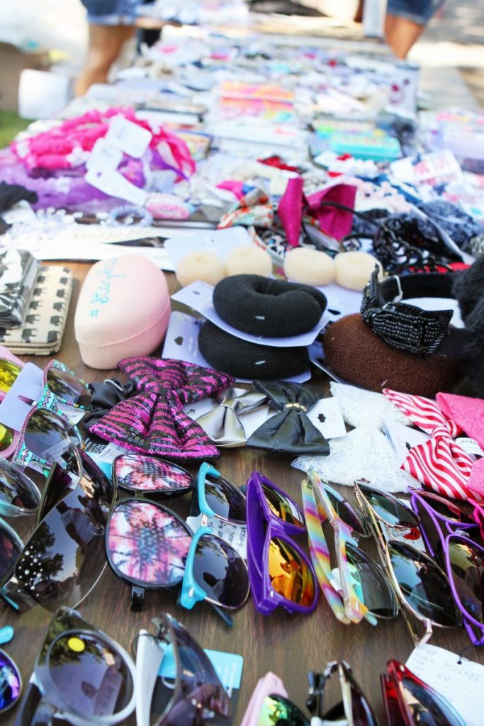 All of the amazing accessories donated by Claire's